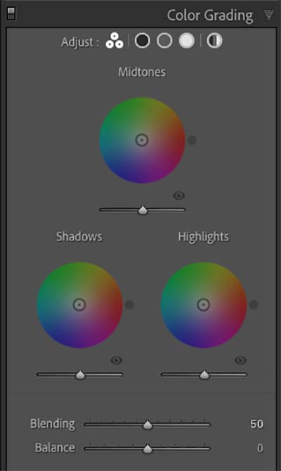 Lightroom 10 has replaced the Split Toning Panel with Color Grading
